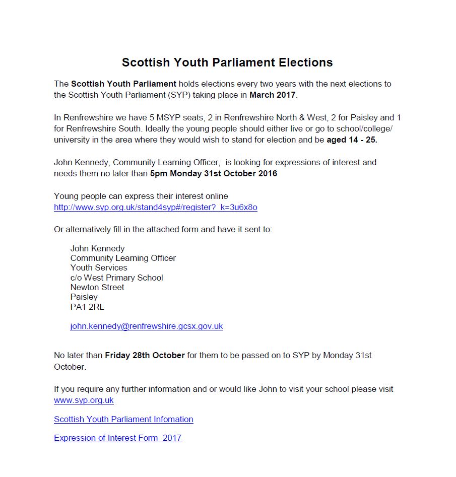 Scottish Youth Parliament